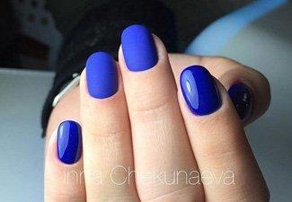 Синий маникюр - фото 3