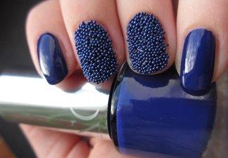 Синий маникюр - фото 4