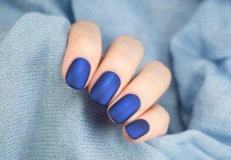 Синий маникюр - фото 41