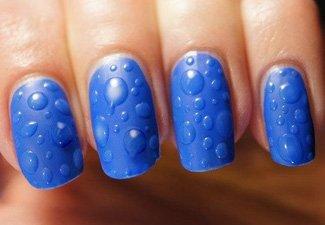 Синий маникюр - фото 49