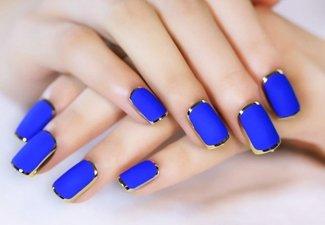 Синий маникюр - фото 7