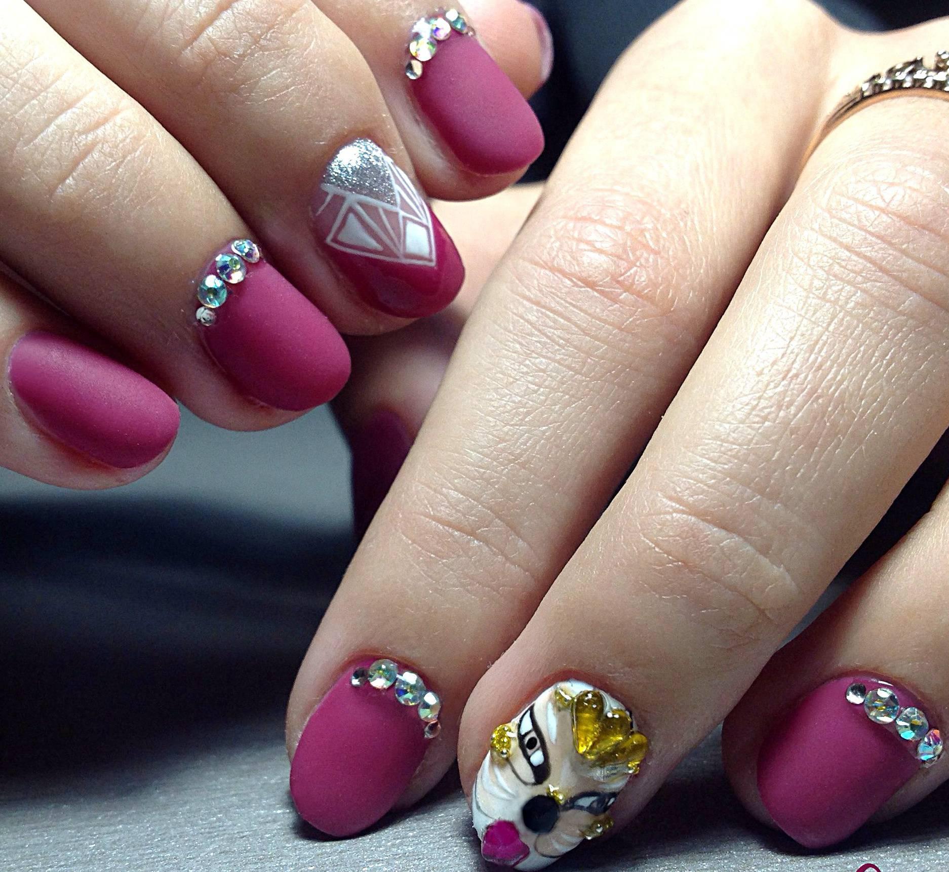 Дизайн ногтей на день рождения фото